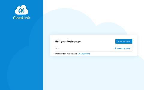 Screenshot of Login Page classlink.com - Login - captured Nov. 22, 2019