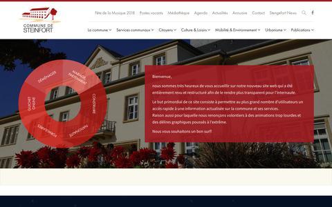 Screenshot of Home Page steinfort.lu - Accueil - Administration Communale de Steinfort - captured June 29, 2018