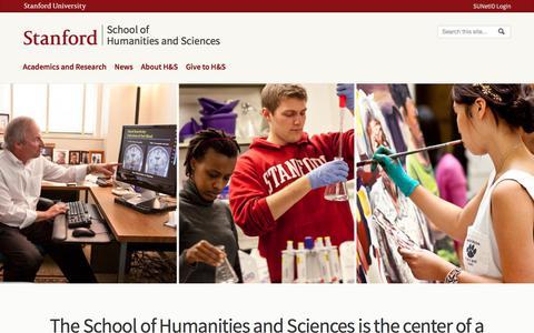 School of Humanities and Sciences |