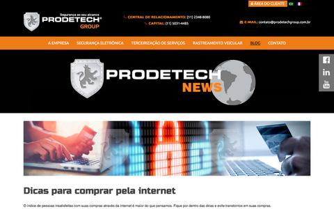 Screenshot of Blog prodetechgroup.com.br - Blog - captured May 22, 2017