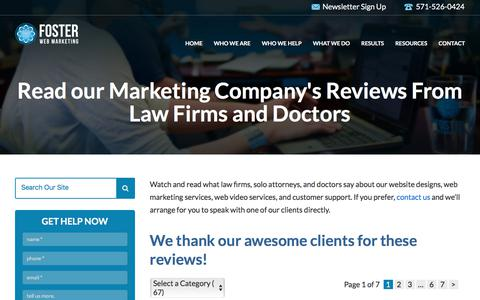 Law Firm Marketing Company Reviews & Testimonials | Foster Web Marketing