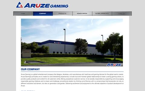 Screenshot of About Page aruzegaming.com - Aruze Gaming About Us - captured Oct. 4, 2014