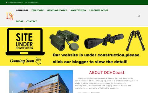 Screenshot of Home Page dchcoast.com - Homepage - DCHCoast - Binoculars, Monocular, Rifle Scope, Laser Sight, Telescope - captured Sept. 27, 2018