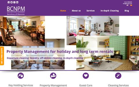 Screenshot of Home Page bcnpm.com - Barcelona Property Management - BCN PM - captured Sept. 10, 2015