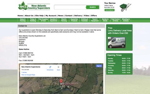 Screenshot of Contact Page newatlanticonline.co.uk - Contact Us - New Atlantic Online - captured Oct. 26, 2014