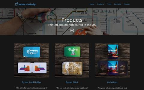 Screenshot of Products Page carboncubedesign.com - Products - Carbon Cube Design - captured May 14, 2017