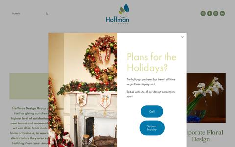 Screenshot of Services Page hoffmandesigngroup.com - All Services — Hoffman Design Group - captured Dec. 8, 2018