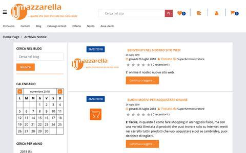 Screenshot of Blog mazzarella.it - Archivio Notizie - Mazzarella - captured Nov. 6, 2018