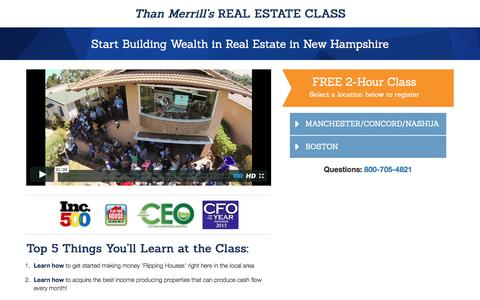 Screenshot of Landing Page fortunebuilders.com - Than Merrill's Real Estate Class - captured Aug. 6, 2016