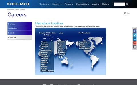 Screenshot of Locations Page delphi.com - Delphi Automotive Locations - captured Sept. 9, 2016