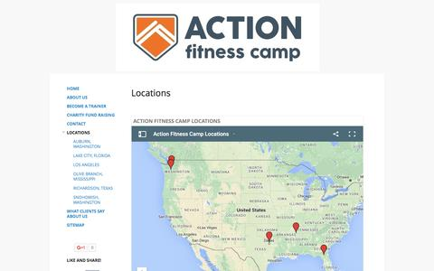 Screenshot of Locations Page google.com - Locations - Action Fitness Camp - captured June 27, 2016