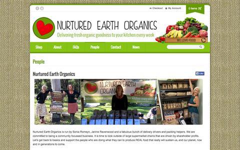 Screenshot of Team Page nurtured-earth.com.au - People | Nurtured Earth Organics - captured Oct. 6, 2014