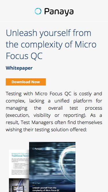 Why Panaya (PTC) is a better alternative to Micro Focus QC