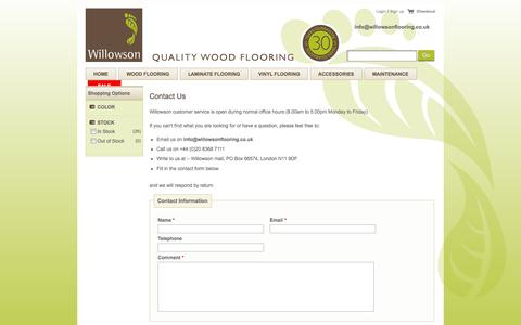 Screenshot of Contact Page willowsonflooring.co.uk - Contact Willowson the Wood Flooring Experts - captured Oct. 7, 2014