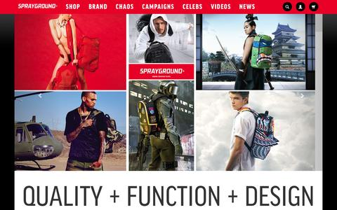 Screenshot of About Page sprayground.com - About | Sprayground Backpacks, Bags, and Accessories - captured Sept. 22, 2014