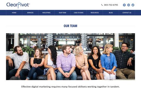 Screenshot of Team Page clearpivot.com - Our Team | ClearPivot - captured July 16, 2018