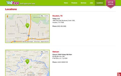 Screenshot of Locations Page yoapp.co - Locations - captured Nov. 3, 2014