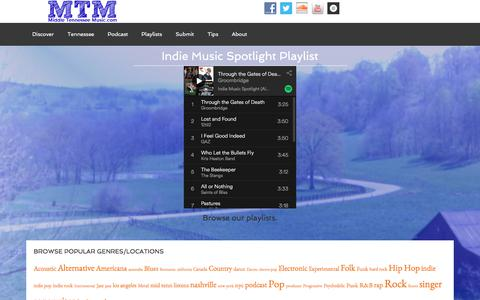 Screenshot of Home Page midtnmusic.com - Middle Tennessee Music - Indie Music News, Reviews, Interviews, Videos and How-Tos - captured Oct. 18, 2017