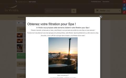Screenshot of Blog inviridis.fr - In Viridis - Blog - captured July 21, 2016