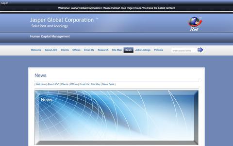 Screenshot of Press Page jasperglobal.com - News :: Jasper Global Corporation - captured Nov. 19, 2016