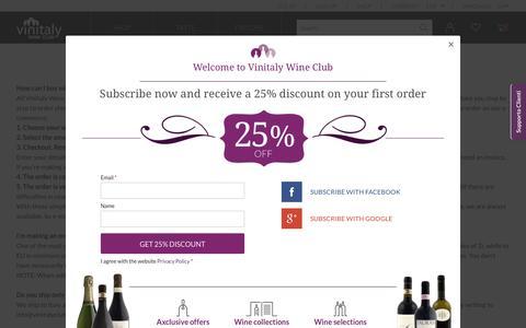 Screenshot of FAQ Page vinitalyclub.com - FAQ | Vinitaly Wine Club - captured Nov. 24, 2016