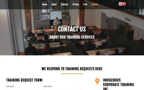 Screenshot of Contact Page ictinc.ca - Contact us - captured Oct. 15, 2017