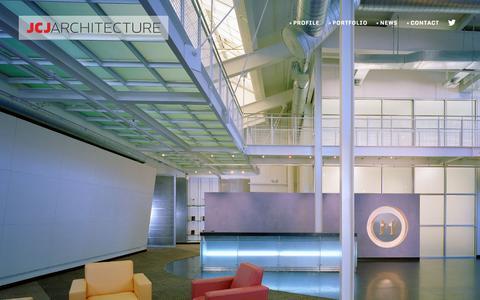 Screenshot of Home Page jcj.com - JCJ Architecture - captured Oct. 3, 2014