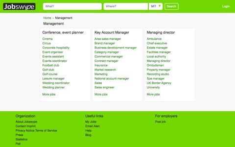 Screenshot of Team Page jobswype.co.uk - Management - Jobs in the United Kingdom - Jobswype - captured July 9, 2018