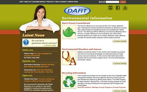 Screenshot of Menu Page dart.biz - Dart Environmental Information - captured Nov. 2, 2014