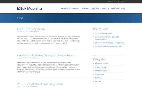 Legal Analytics Blog