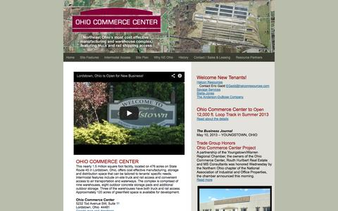 Screenshot of Home Page ohiocommercecenter.com - Ohio Commerce Center Home - captured Sept. 30, 2014