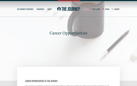 Screenshot of Jobs Page thejourney.org - Career Opportunities | The Journey - captured Feb. 17, 2018
