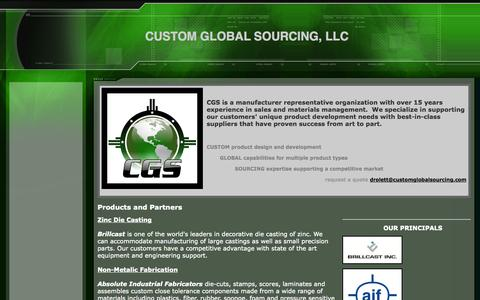 Screenshot of Home Page customglobalsourcing.com - Custom Global Sourcing, LLC - captured Oct. 3, 2014
