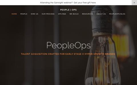 Screenshot of Team Page peopleops.com - PEOPLE   OPS - captured Nov. 1, 2014