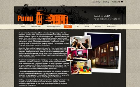 Screenshot of Blog thepump.org.uk - Blog «  The Pump - captured Oct. 9, 2014