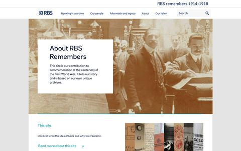 Screenshot of About Page rbsremembers.com - About | RBS Remembers - captured Feb. 23, 2018