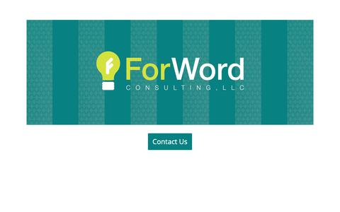 Screenshot of Home Page forword.co - ForWord Consulting - captured Oct. 10, 2018