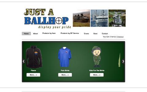 Screenshot of Home Page justaballhop.com - Just a Ballhop.com  - captured Sept. 30, 2014