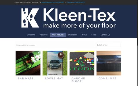Screenshot of Products Page kleen-tex.co.za - Products Archive - Kleen-Tex South Africa - captured Oct. 17, 2017