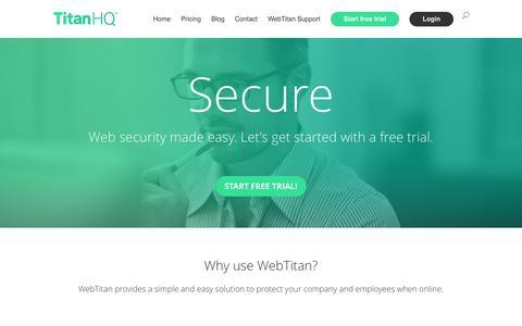 Screenshot of Home Page webtitan.com - Home - WebTitan - captured Jan. 21, 2016