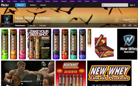 Screenshot of Flickr Page flickr.com - Flickr: New Whey Nutrition's Photostream - captured Oct. 25, 2014