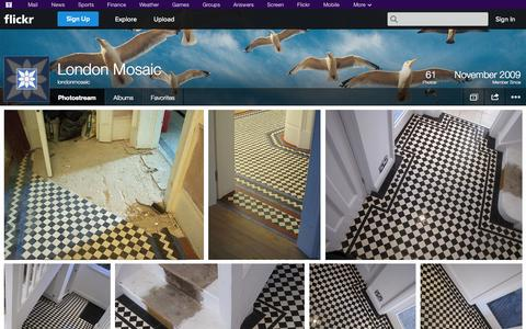 Screenshot of Flickr Page flickr.com - Flickr: londonmosaic's Photostream - captured Oct. 22, 2014