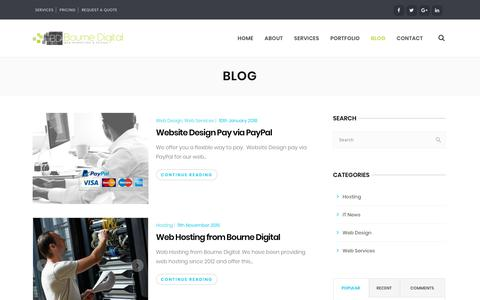 Screenshot of Blog bournedigital.co.uk - Blog - Web Design Digital Marketing Agency - captured Aug. 3, 2018