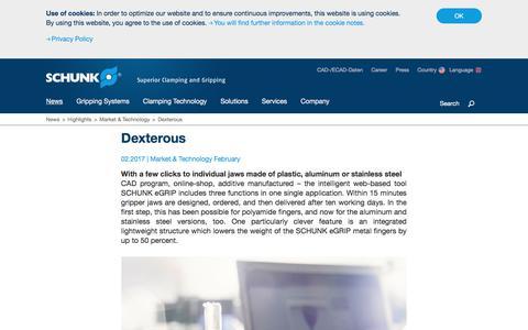 Market & Technology - Dexterous