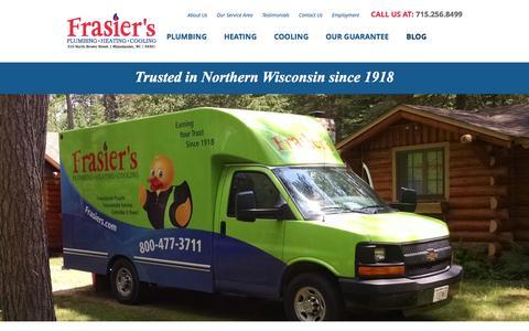 Screenshot of Blog frasiers.com - Frasier's Plumbing, Heating & Cooling Blog & News | Frasier's Plumbing, Heating, & Cooling - captured Sept. 25, 2015