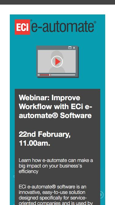 Webinar: Improve Workflow with ECi e-automate® Software