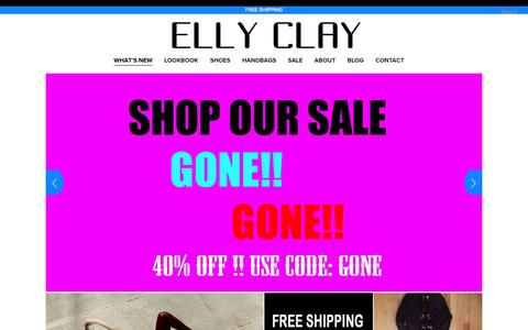 Screenshot of Home Page ellyclay.com - ELLY CLAY - captured Oct. 1, 2014