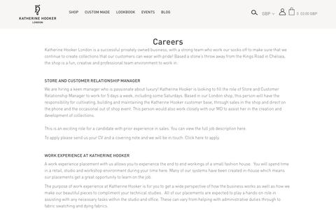 Screenshot of Jobs Page katherinehooker.com - Careers – Katherine Hooker - captured Sept. 20, 2018