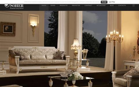 Screenshot of Home Page soher.com - Soher - Handmade Luxury Interiors - captured Dec. 19, 2015