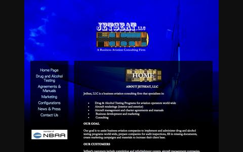 Screenshot of Home Page jetseatllc.com - Home Page - captured Sept. 30, 2014